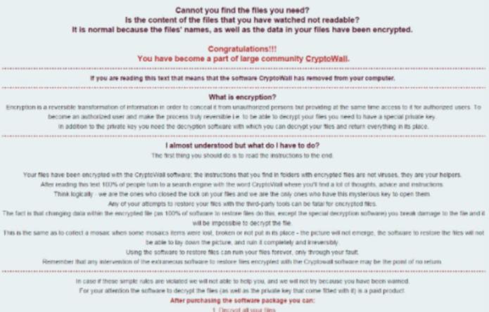remove CryptoWall 4.0