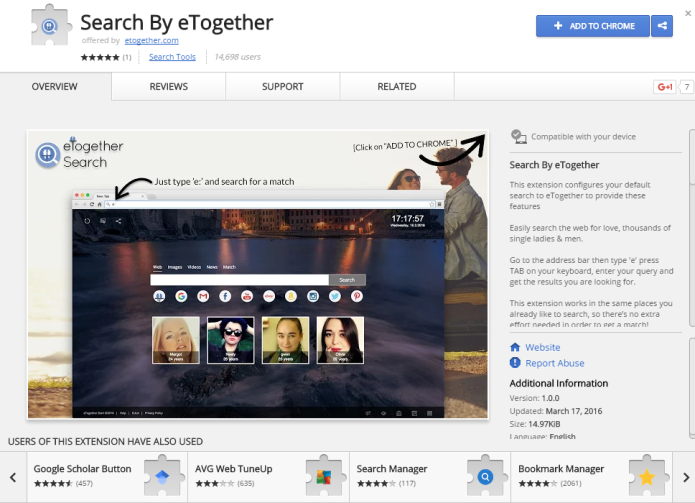 remove etogether search toolbar