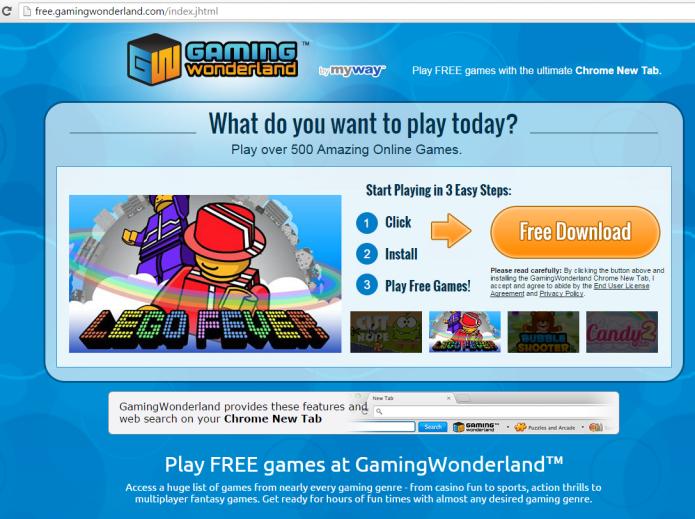 remove gaming wonderland