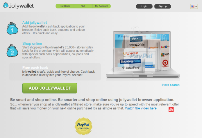 remove JollyWallet ads