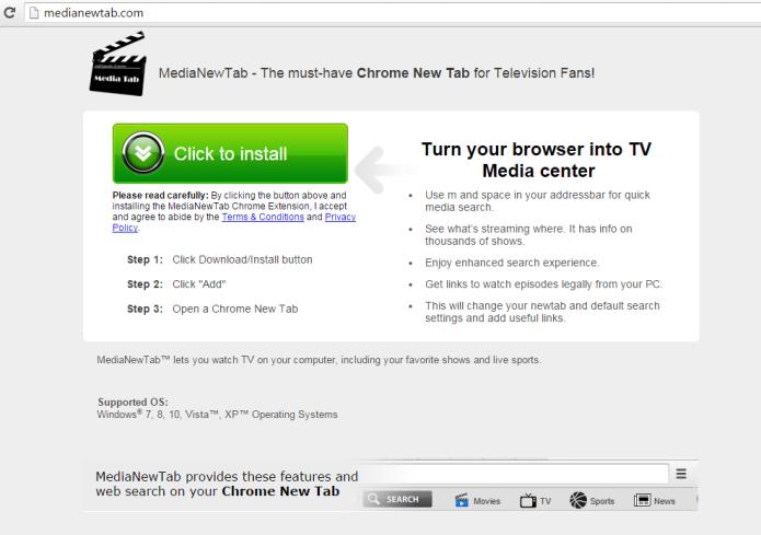 remove media new tab