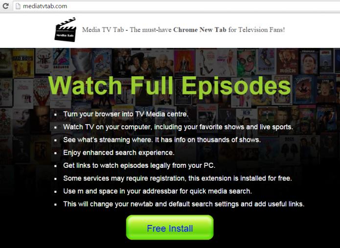 remove media tv tab