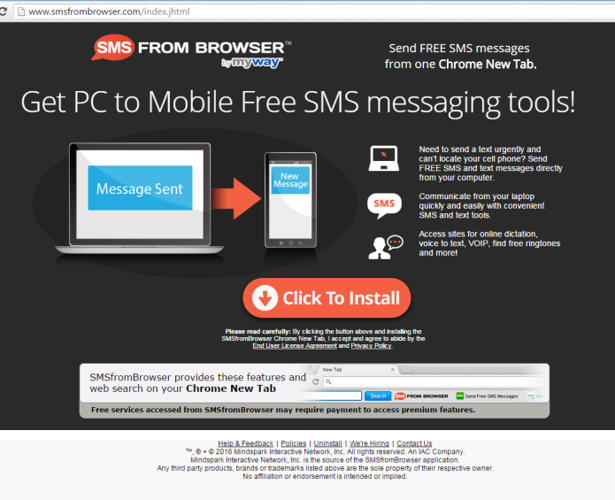 remove sms from browser