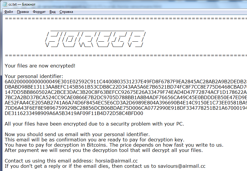 decrypt .horsia@airmail.cc