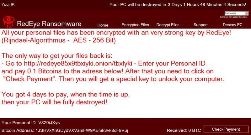 remove RedEye ransomware