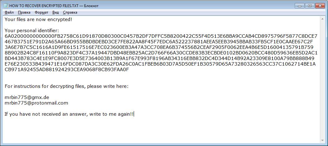 remove Bin 2 ransomware