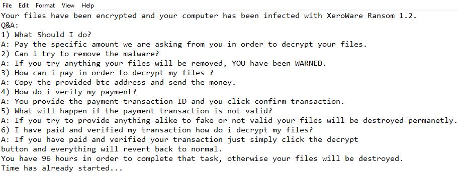 remove XeroWare ransomware