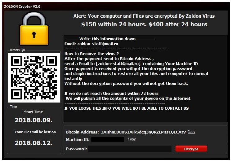 remove ZOLDON Crypter V3.0 ransomware