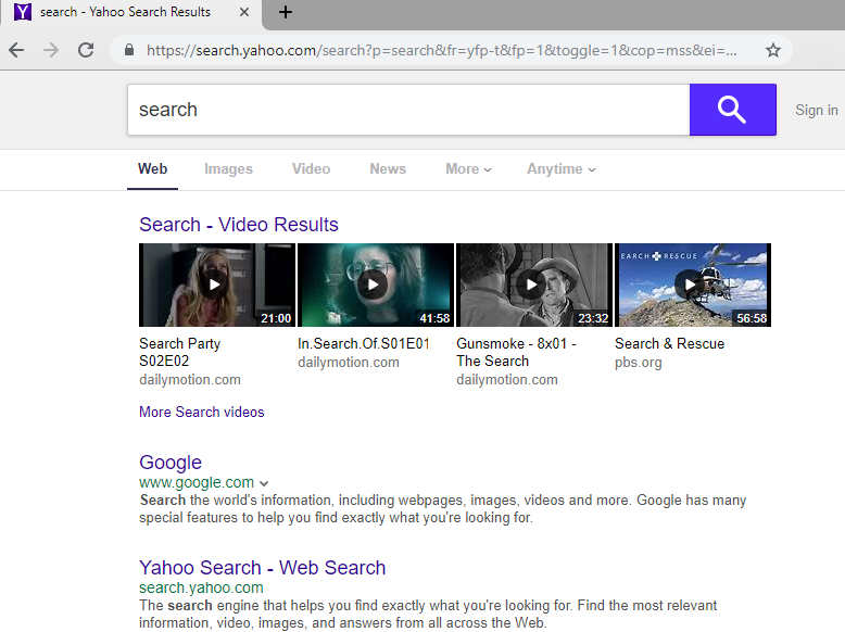How to remove Yahoo Search?