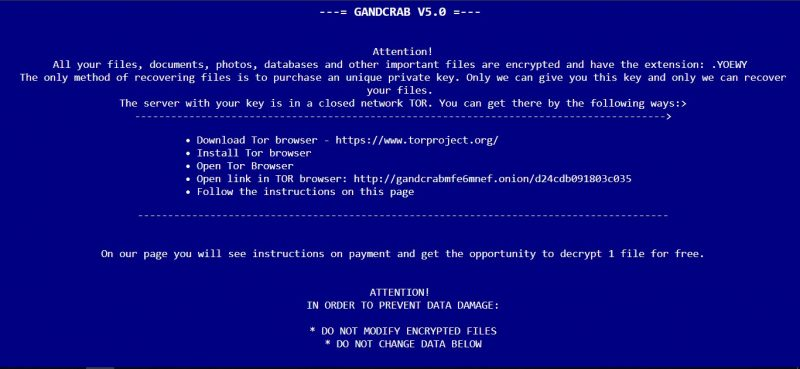 How to remove GANDCRAB V5 0 ransomware and decrypt files