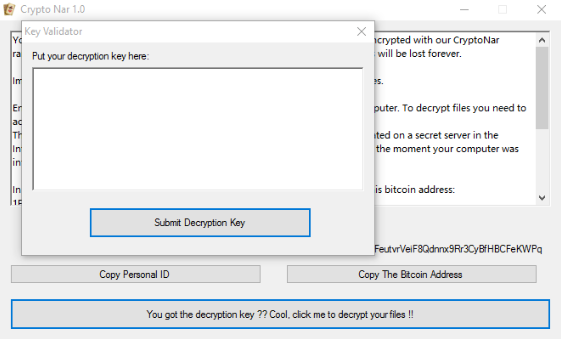 remove CryptoNar ransomware
