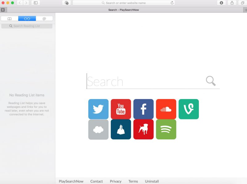 remove PlaySearchNow from Safari