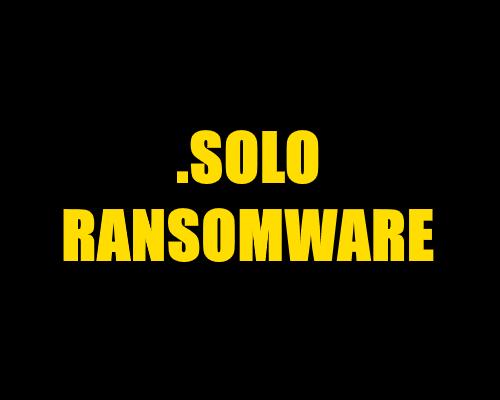 remove SOLO Ransomware