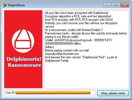 remove Delphimorix! ransomware