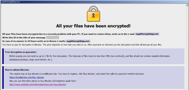 remove Fire ransomware