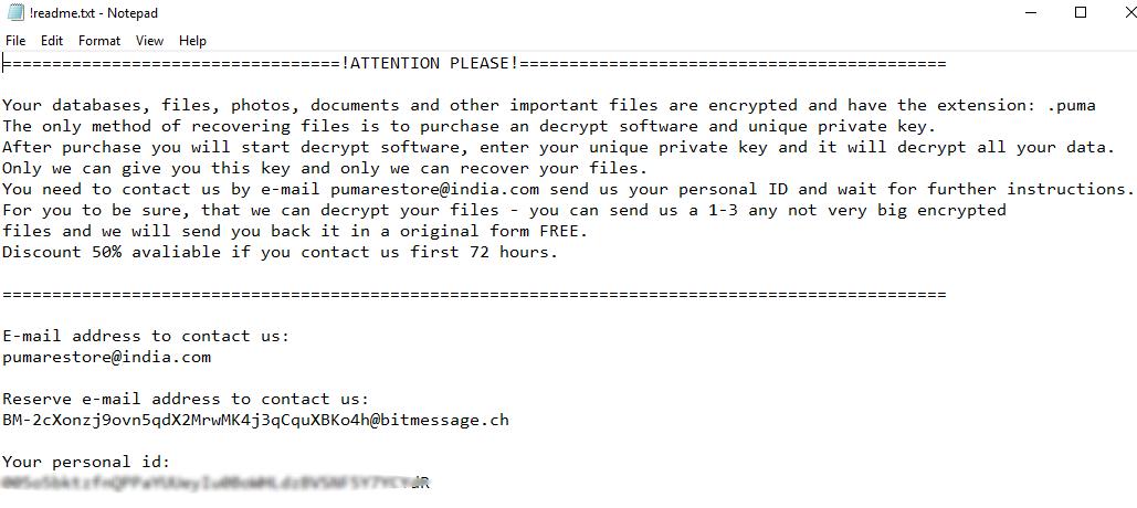 remove Puma ransomware