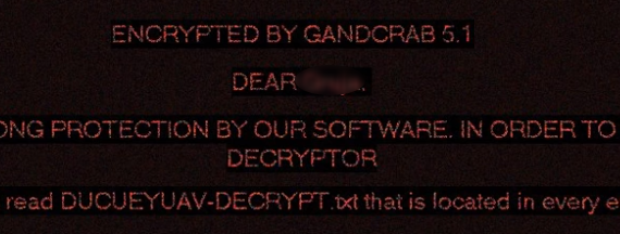 remove GANDCRAB 5.1 ransomware
