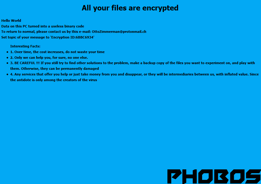 remove Phobos ransomware
