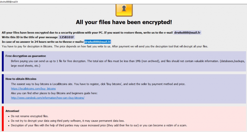 remove drwho888@mail.fr Ransomware