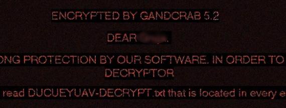 remove GANDCRAB 5.2 ransomware