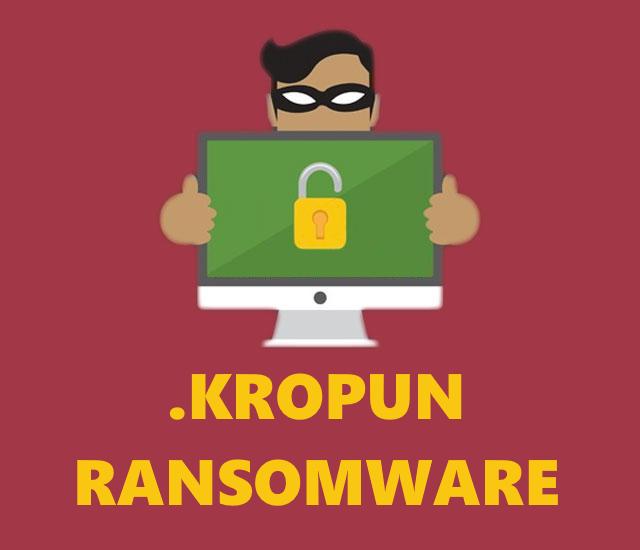 remove Kropun ransomware