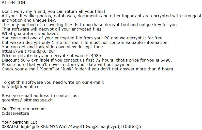 remove Davda ransomware
