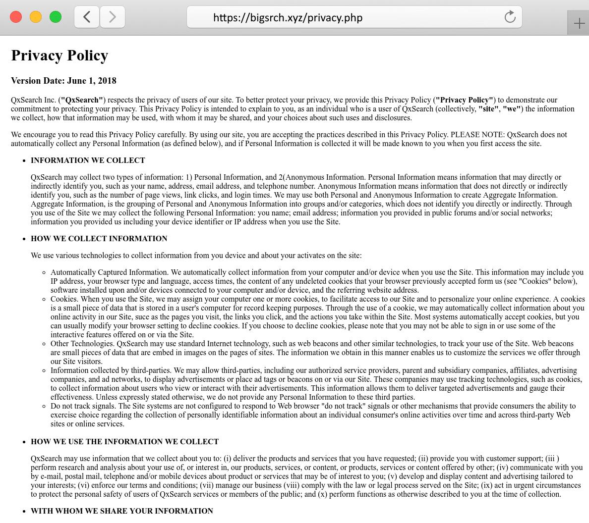 remove Bigsrch.xyz from MacBook