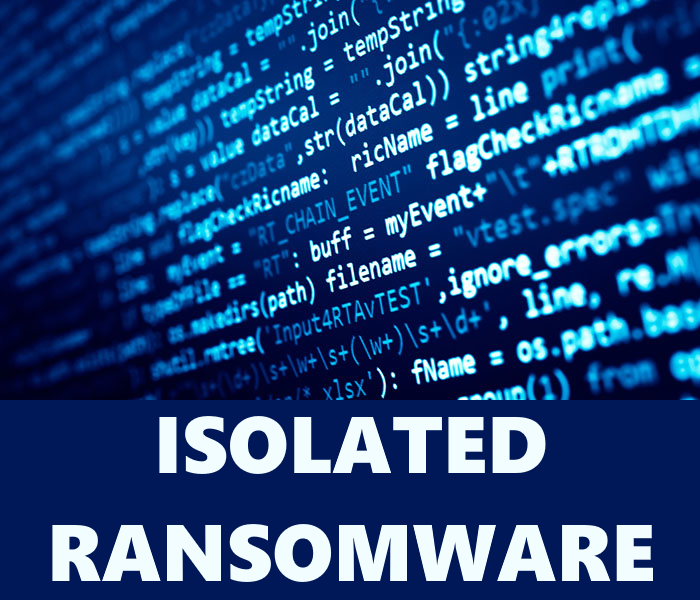 remove Isolated ransomware