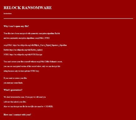 remove Relock ransomware