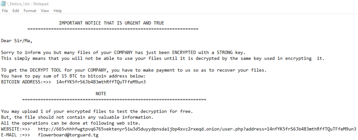 remove TFlower ransomware