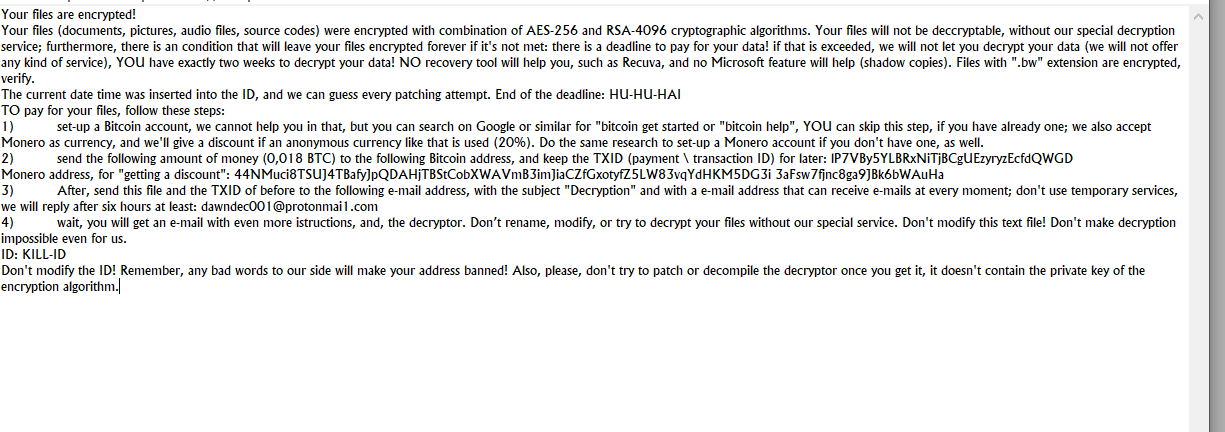remove BWall ransomware