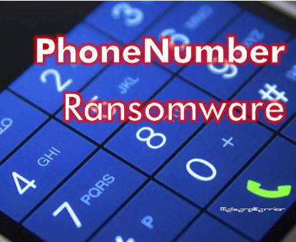 remove PhoneNumber ransomware