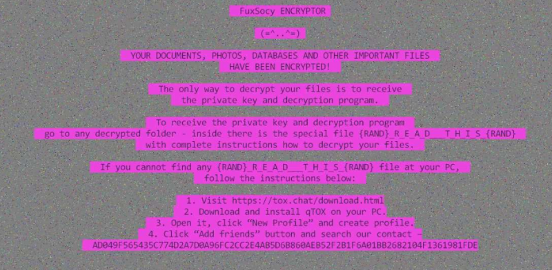 remove FuxSocy ENCRYPTOR ransomware