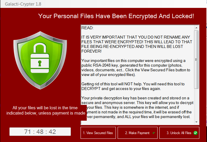 remove Galacti-Crypter ransomware