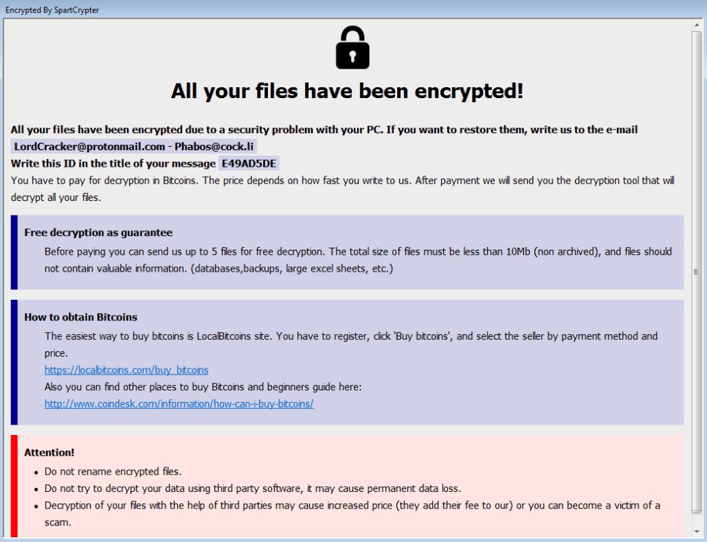 remove SpartCrypt ransomware