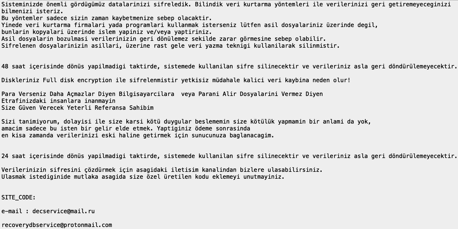 remove TurkStatik ransomware