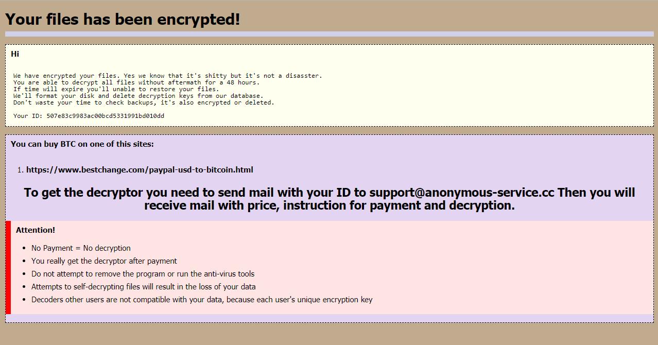 eliminar PPDDDP ransomware