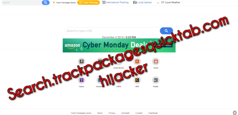 remove Search.trackpackagesquicktab.com hijacker
