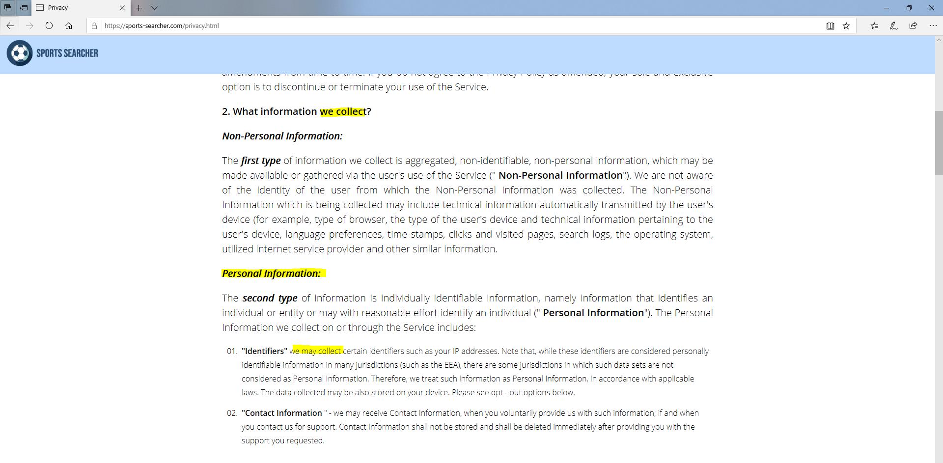 supprimer SportsSearcher de Windows