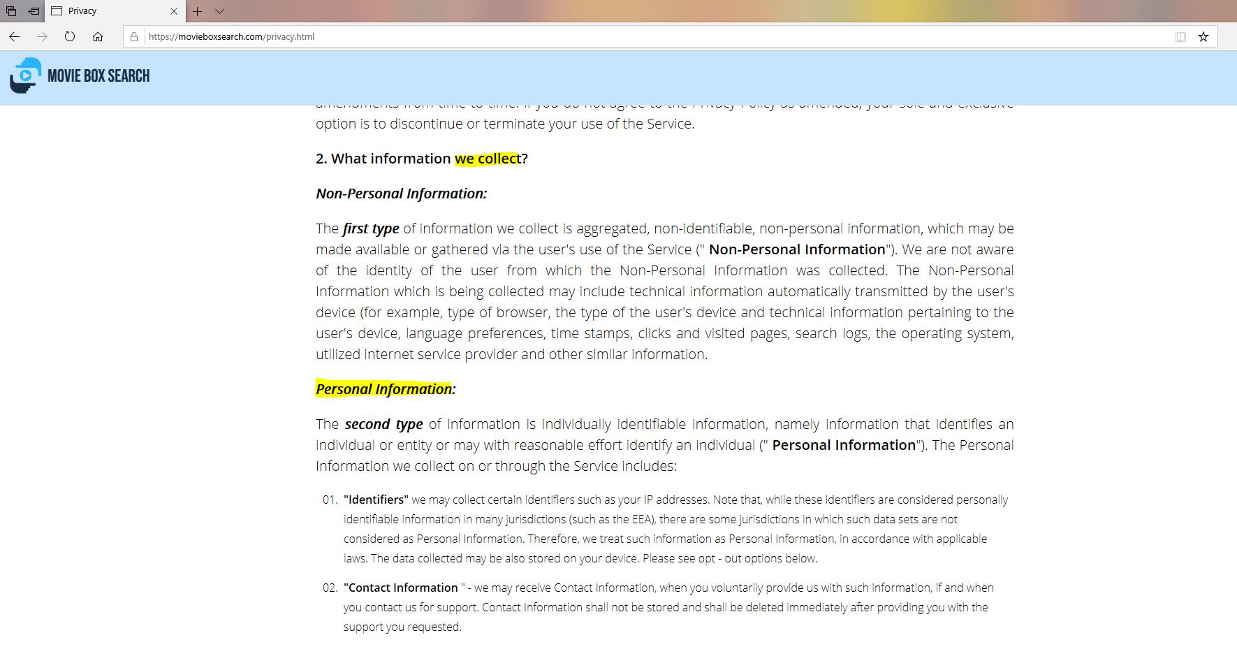 supprimer MovieBoxSearch de Windows
