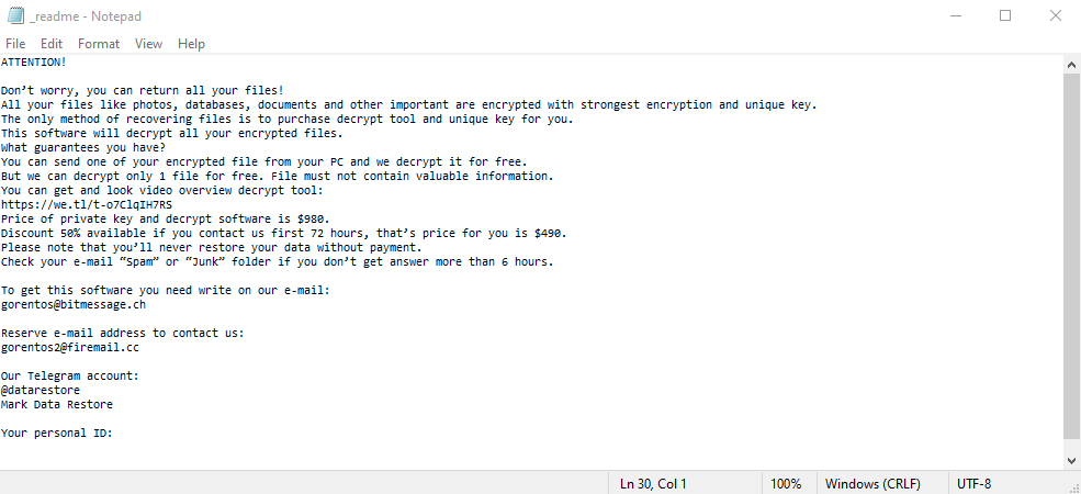 remove Kewe ransomware