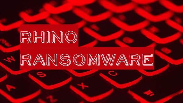 remove Rhino ransomware