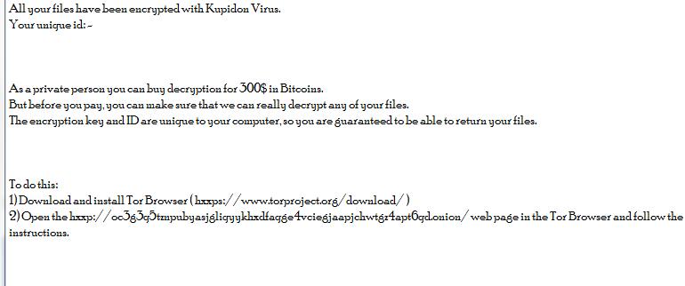 remove Kupidon ransomware