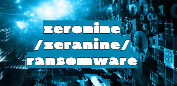 remove Zeronine ransomware
