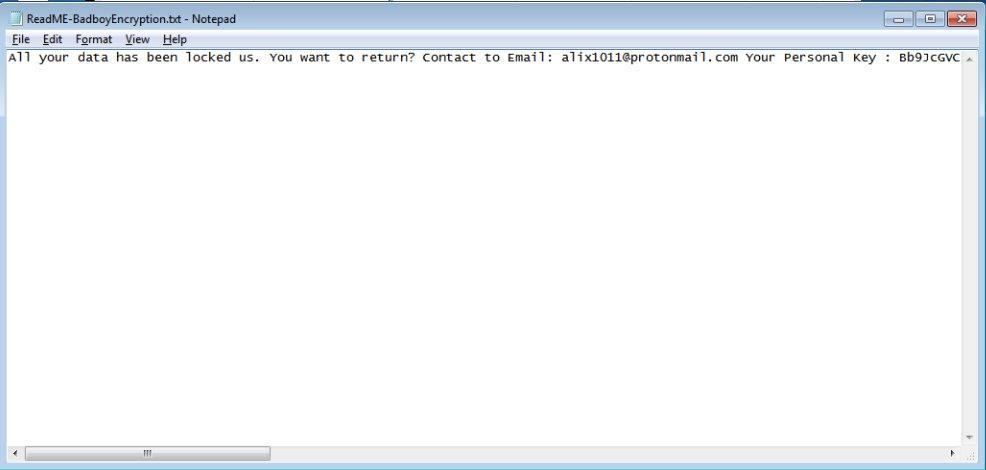 .badboy-Dateien entschlüsseln