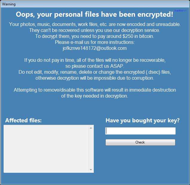 eliminar el ransomware DualShot