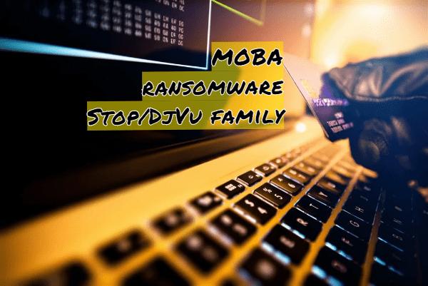 supprimer le rançongiciel Moba