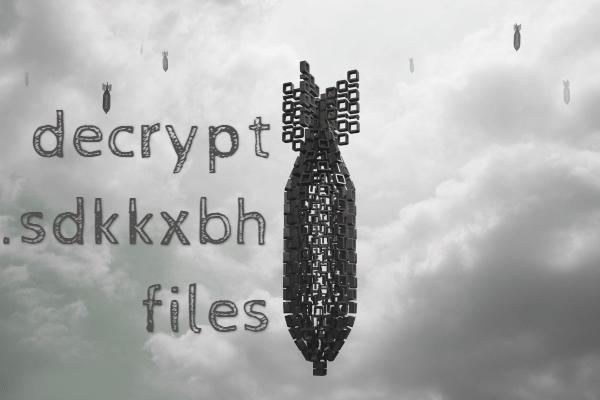 Entfernen Sie die Sdkkxbh-Ransomware