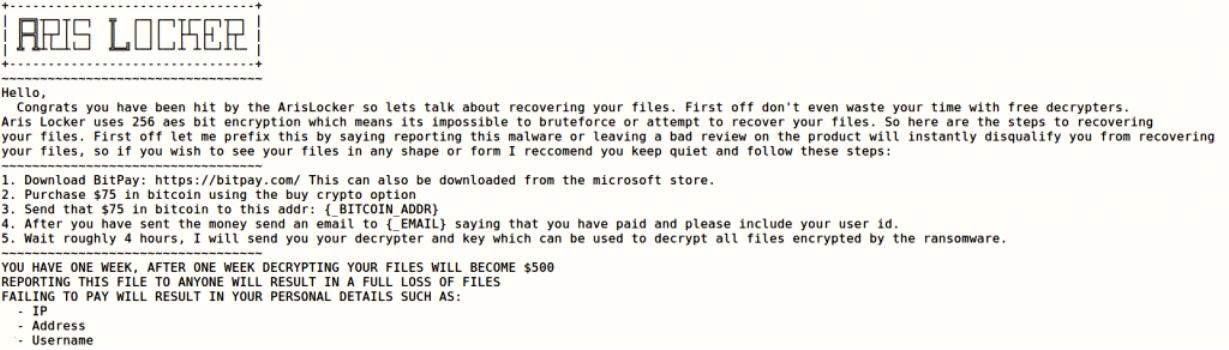 decrypt .ArisLocker files