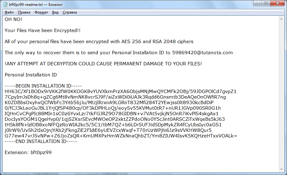 decrypt .OhNo-FakePDF files